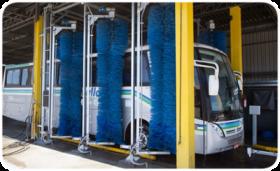 Novo lavador automático com central de tratamento e reutilização de água.